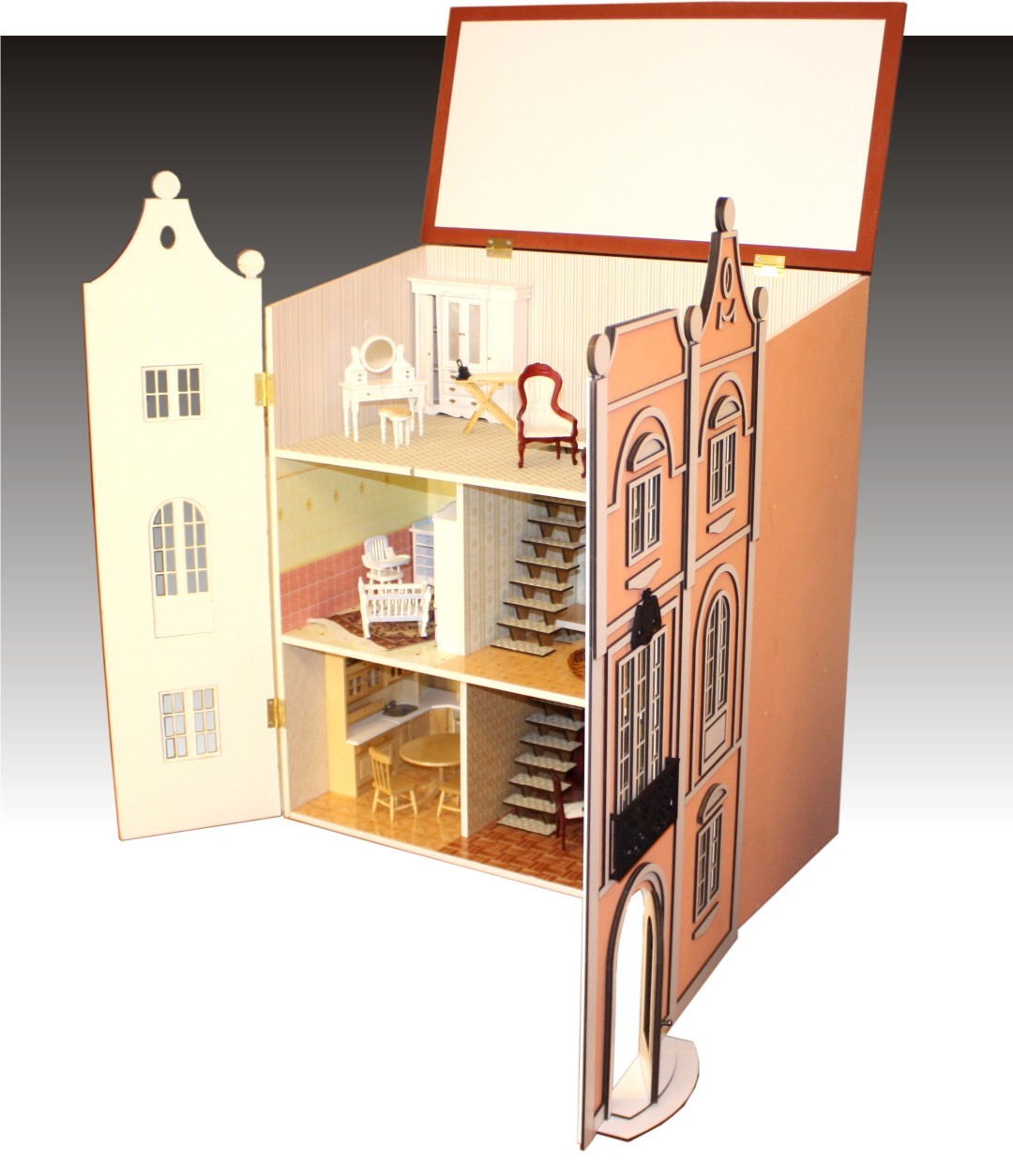 Как сделать своими руками большой кукольный домик в